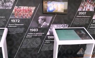 Интерактивные столы 55 дюймов на экспо баскет 2016