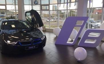 Интерактивный стол и фотолаборатория для компании ТТС на презентацию автомобиля BMW i8 в г. Уфа