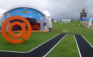 Оборудование для зоны mail.ru на фестивале ВКОНТАКТЕ