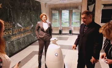 Робот компании Гефест Проекция в Управлении ГИБДД РТ