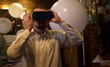 Очки дополненной реальности и рекламных роботов на мероприятие в клубе «Jagger»