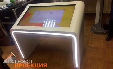 Интерактивный стол 42 дюйма на 10 касаний. Материал Корпуса - композитный алюминий