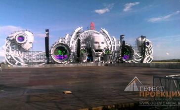 Интерактивные инсталляции Гефест Проекции на ALFA FUTURE PEOPLE 2015