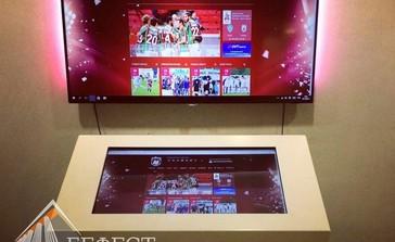 Интерактивный стол для футбольного клуба Рубин (г.Казань) Dedal stone presenter